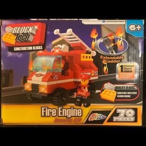 Block Tech Fire Engine Rescue Kit